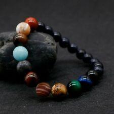 Bracelet pour homme et femme perles naturelle yoga chakra 18 cm extensible
