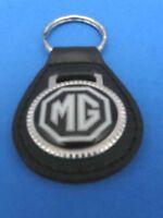 MG BLACK AUTO LEATHER KEYCHAIN KEY CHAIN RING FOB #033