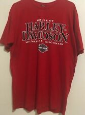 HARLEY-DAVIDSON MOTORCYCLES HOUSE OF HARLEY Milwaukee Wisconsin Red  L t-shirt