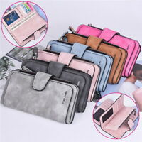 Women's Ladies Long Leather Trifold Card Wallet Clutch Checkbook Purse Handbag