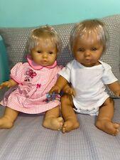 Vintage Berjusa Berenguer Anatomically Correct Vinyl Doll 18� Blonde Twins Boy