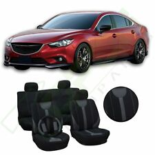 Protective Car Seat Covers W/Steering Wheel Cover 13pcs Grey + Black For Honda