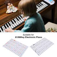 Removable Piano Key Board Sticker 61/88 Keys Full Set Electronic Pianos Key Note