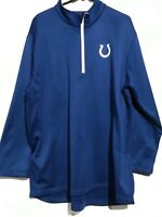 Men's Majestic NFL Indianapolis Colts ThermaBase !/4-Zip Blue Pullover. Size XL