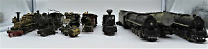 BRASS AND WHITE MENTAL STEAM LOCOMOTIVES ( PARTS ONLY) HO SCALE 9 LOT