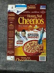 Honey Nut Cheerios Empty Box Star Wars Jedi Color Changing Spoons Cereal Premium