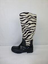 JOY HARPER Stiefel Sheila Gr 39 Schwarz echt Fell Zebra Optik NP 169,- NEU