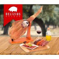 Spanish Jamon Shoulder paleta Ham +Sausages+Elegance Ham Holder + Slicer 3.8-5KG