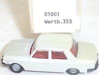 Wartburg 353 Beige Gris imu Modèle Européen 01001 H0 1/87 Emballage #GA5 Å √