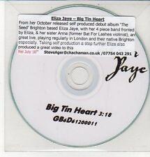 (DD328) Eliza Jaye, Big Tin Heart - 2011 DJ CD