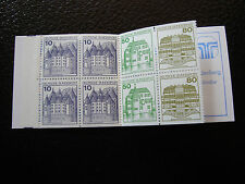 ALLEMAGNE RFA -timbre-yvert et tellier carnet n° C970b  (carnet dos n*)