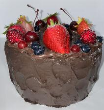 "��Fake Food Chocolate Fruit Crown dream cake 8W"" x 4H""On Sale��"