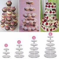 3/4/5 Tier Circle Round Acrylic Cupcake Party Wedding Cup Cake Display Stand GW
