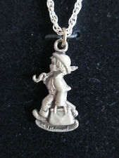 Hummelgoebel Merry Wanderer Pendant And Chain New Conition In Black Box
