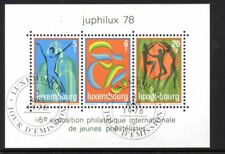 Used Sheet Luxembourg Stamps