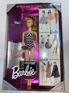1994 35th Anniversary Blonde Barbie Doll Reproduction New Mattel