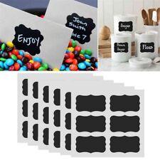 48Pcs/Set Chalkboard Blackboard Chalk Board Stickers Craft Kitchen Jar Labels DE