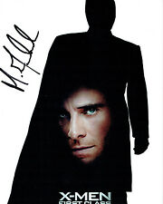 Michael FASSBENDER SIGNED X-Men First Class 10x8 Photo AFTAL Autograph COA