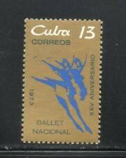 6CUBA Sc# 1842  NATIONAL BALLET dance  1973  MNH