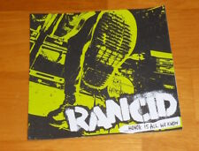 Rancid Honor is All We Know Sticker Original Promo 5x5 Square