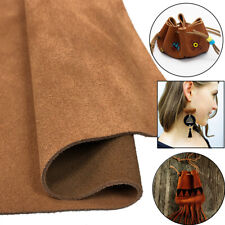 Brown Suede Leather Cowhide Crafting Arts projects trim jewelry Handbag Wallet