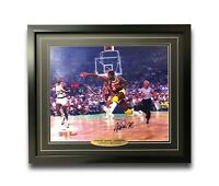 Magic Johnson Signed & Framed Los Angeles Lakers 16x20 COA JSA Autograph Celtics
