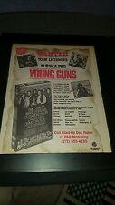 Young Guns Rare Original Movie Radio Contest Promo Poster Ad Framed!