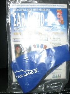 Ear Band-It Adjustable Neoprene Swimmers Headband. New. Royal blue. Sz Lrg
