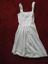 ZARA ladies white sleeveless dress size S (approx size 8-10)