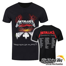 Official Metallica Master Of Puppets European Tour 86 Rock Band T-Shirt