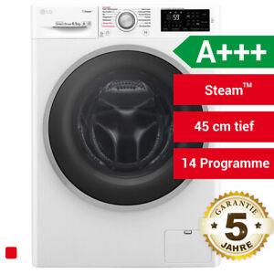 LG F12WM6TS1 Raumspar Waschmaschine 45cm tief Steam Waschautomat mit Dampf A+++