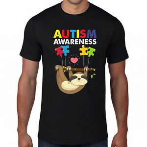Autism Awareness Sloth T-Shirt,Lover Heart Puzzle Piece Animal Cute Funny Top