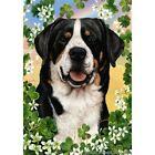 Clover Garden Flag - Greater Swiss Mountain Dog 311441