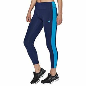 Asics Women's Running Tights 7/8 Sports Tights - Indigo Blue - New