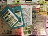 Acrylic stamp LOT Hero Arts, Inkadinkado, Ranger