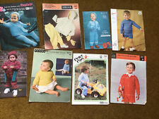 JOB LOT BUNDLE TODDLER CHILDREN'S KNITTING PATTERNS