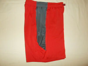 UNDER ARMOUR RED ATHLETIC SHORTS BOYS LARGE EXCELLENT CONDITION