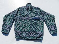 Vintage PATAGONIA Aztec Indian Tribal Southwestern Fleece Snap T Sweater Small