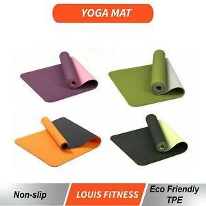OZ TPE 2 Side Color Pilate Yoga Gym Mat Non Slip ECO Friendly Fitness Training