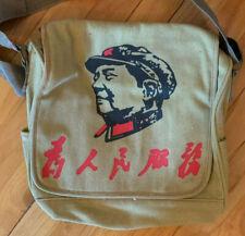 Khaki Vintage Mao Tse-Tung Red Army Messenger Bag New