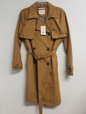 A New Day Womens Dark Khaki Trench Coat Button Down Size Medium