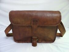 "Genuine Leather Crossbody Bag 13"" MacBook/Laptop Satchel Messenger Shoulder Bag"