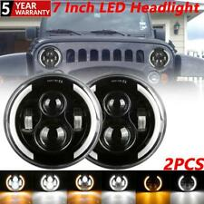 2PCS 7 Inch Projector LED Headlight Side Halo Signal Lamp For VW Beetle Classic