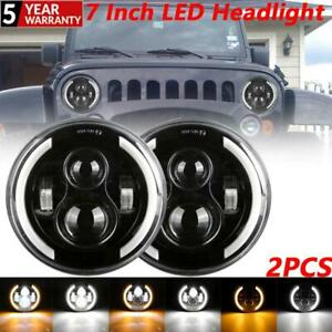 2PCS 7 Inch Projector LED Headlight Side  Signal Lamp For VW Beetle Classic