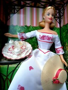 VINTAGE MATTEL BARBIE DOLL  - VICTORIAN TEA  -  AVON EXCLUSIVE