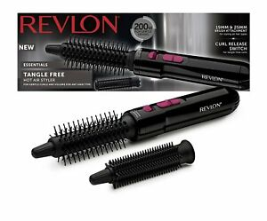 Revlon Tangle Free Hot Air Styler Brush Gentle Drying Styling Curls Volume 200W
