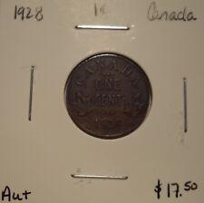 Canada George V 1928 Small Cent - AU+