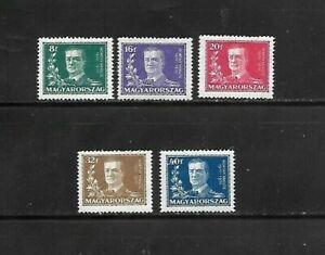 HUNGARY 1930 SC445-49 ADMIRAL N. HORTHY MVLH