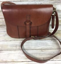 Lucky Brand Dylan Brown Genuine Leather Messenger Crossbody Shoulder Bag Purse