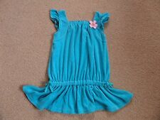 GORGEOUS Girl's DISNEY Swimming Cover Up Towelling Age 5 Turquoise From USA